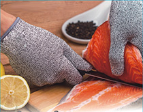 Cut-Resistant Meat and Fish Processing Gloves